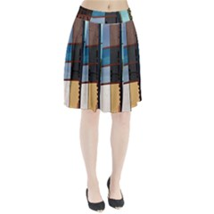 Glass Facade Colorful Architecture Pleated Skirt