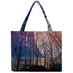 Full Moon Forest Night Darkness Mini Tote Bag