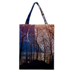 Full Moon Forest Night Darkness Classic Tote Bag
