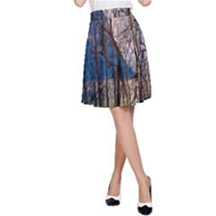 Full Moon Forest Night Darkness A Line Skirt