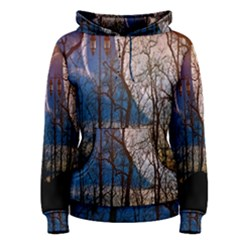 Full Moon Forest Night Darkness Women s Pullover Hoodie