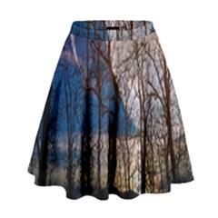 Full Moon Forest Night Darkness High Waist Skirt