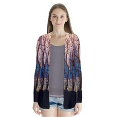 Full Moon Forest Night Darkness Cardigans