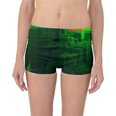 Green Building City Night Boyleg Bikini Bottoms
