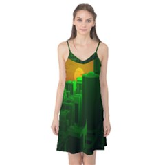 Green Building City Night Camis Nightgown