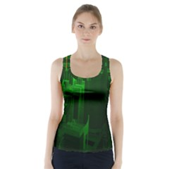 Green Building City Night Racer Back Sports Top