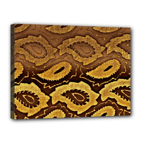 Golden Patterned Paper Canvas 16  x 12