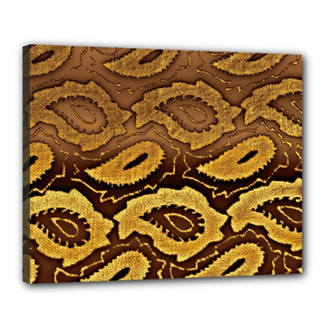 Golden Patterned Paper Canvas 20  x 16