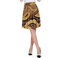 Golden Patterned Paper A-Line Skirt