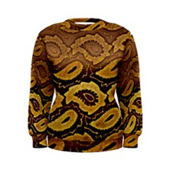 Golden Patterned Paper Women s Sweatshirt