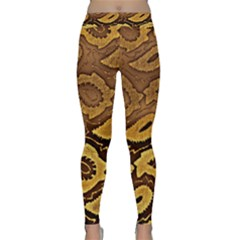 Golden Patterned Paper Classic Yoga Leggings