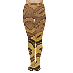 Golden Patterned Paper Women s Tights