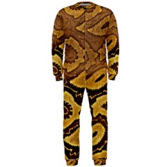 Golden Patterned Paper Onepiece Jumpsuit (men)
