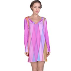 Graphics Colorful Color Wallpaper Long Sleeve Nightdress