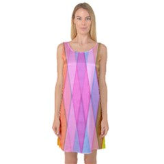 Graphics Colorful Color Wallpaper Sleeveless Satin Nightdress