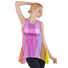 Graphics Colorful Color Wallpaper Side Drop Tank Tunic