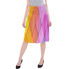 Graphics Colorful Color Wallpaper Midi Beach Skirt