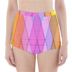 Graphics Colorful Color Wallpaper High-Waisted Bikini Bottoms