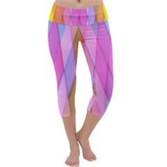 Graphics Colorful Color Wallpaper Capri Yoga Leggings