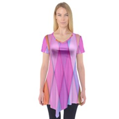 Graphics Colorful Color Wallpaper Short Sleeve Tunic