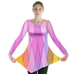 Graphics Colorful Color Wallpaper Long Sleeve Tunic