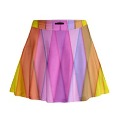 Graphics Colorful Color Wallpaper Mini Flare Skirt