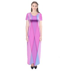 Graphics Colorful Color Wallpaper Short Sleeve Maxi Dress