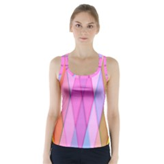 Graphics Colorful Color Wallpaper Racer Back Sports Top