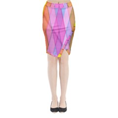 Graphics Colorful Color Wallpaper Midi Wrap Pencil Skirt