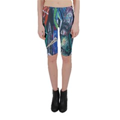 Graffiti Art Urban Design Paint Cropped Leggings
