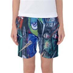 Graffiti Art Urban Design Paint Women s Basketball Shorts