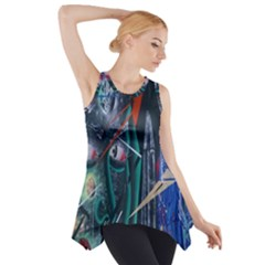 Graffiti Art Urban Design Paint Side Drop Tank Tunic