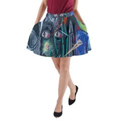 Graffiti Art Urban Design Paint A Line Pocket Skirt