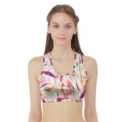 Grass Blades Sports Bra with Border