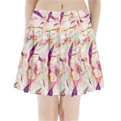 Grass Blades Pleated Mini Skirt