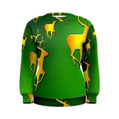 Gold Reindeer Women s Sweatshirt