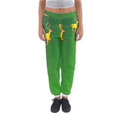 Gold Reindeer Women s Jogger Sweatpants