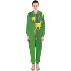 Gold Reindeer Hooded Jumpsuit (ladies)