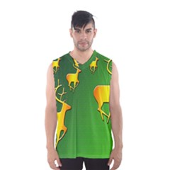 Gold Reindeer Men s Basketball Tank Top