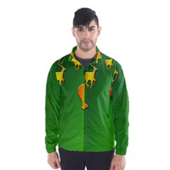 Gold Reindeer Wind Breaker (men)
