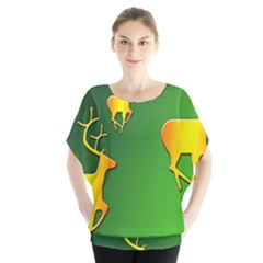 Gold Reindeer Blouse