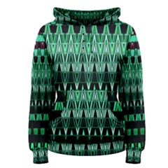 Green Triangle Patterns Women s Pullover Hoodie