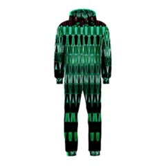 Green Triangle Patterns Hooded Jumpsuit (kids)