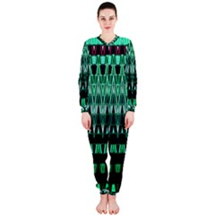 Green Triangle Patterns Onepiece Jumpsuit (ladies)