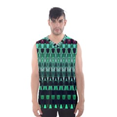 Green Triangle Patterns Men s Basketball Tank Top