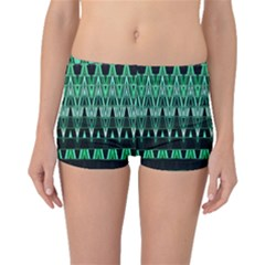 Green Triangle Patterns Boyleg Bikini Bottoms