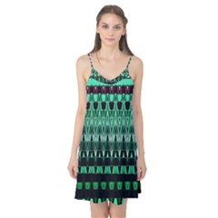 Green Triangle Patterns Camis Nightgown