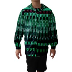 Green Triangle Patterns Hooded Wind Breaker (Kids)