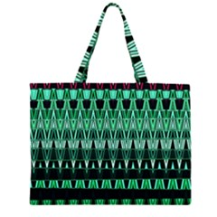 Green Triangle Patterns Large Tote Bag
