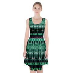 Green Triangle Patterns Racerback Midi Dress